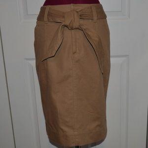 Cote Femme 4 Brown Pencil Skirt Cotton/Hemp 8 UK